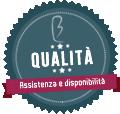 badge qualità e assistenza
